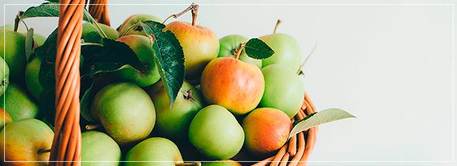 Äpfel im Korb, Foto: Anni Sprat